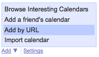 Foursquare Google Calendar Feed
